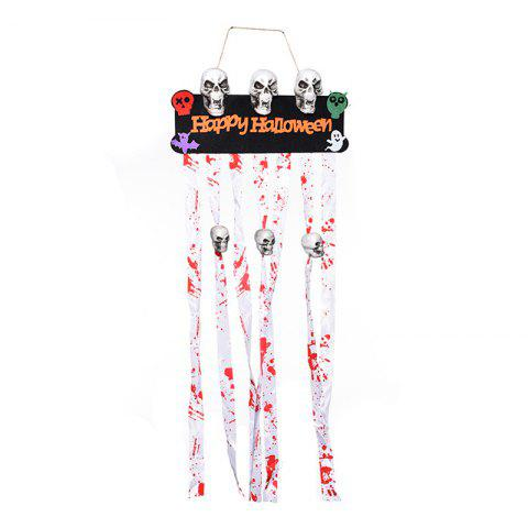Hot MCYH Halloween Ornaments Skull Scarlet Decoration Ghost Festival Bar Dress Up Props - COLORMIX  Mobile