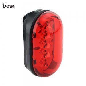 Rechargeable Safety Bike Rear Light Red Flashing LED with Belt Clip -
