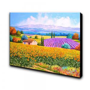 Hand-painted Landscape Flower Sea Canvas Oil Painting -