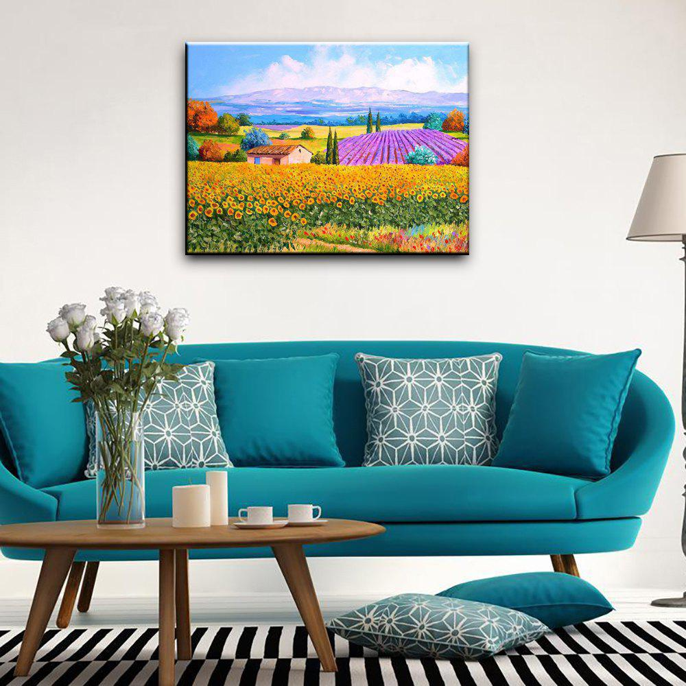 New Hand-painted Landscape Flower Sea Canvas Oil Painting