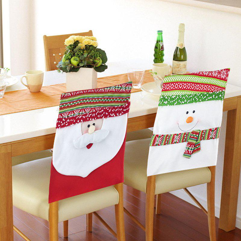 Shops 2Pcs Snowman Couple Chair Covers Christmas Decorations Ornament