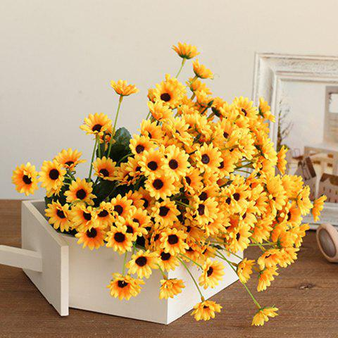 Fancy XM1 20Heads Mini Sunflower Artificial Flower YELLOW
