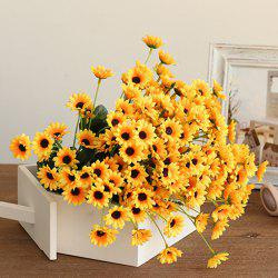 XM1 20Heads Mini Sunflower Artificial Flower - YELLOW