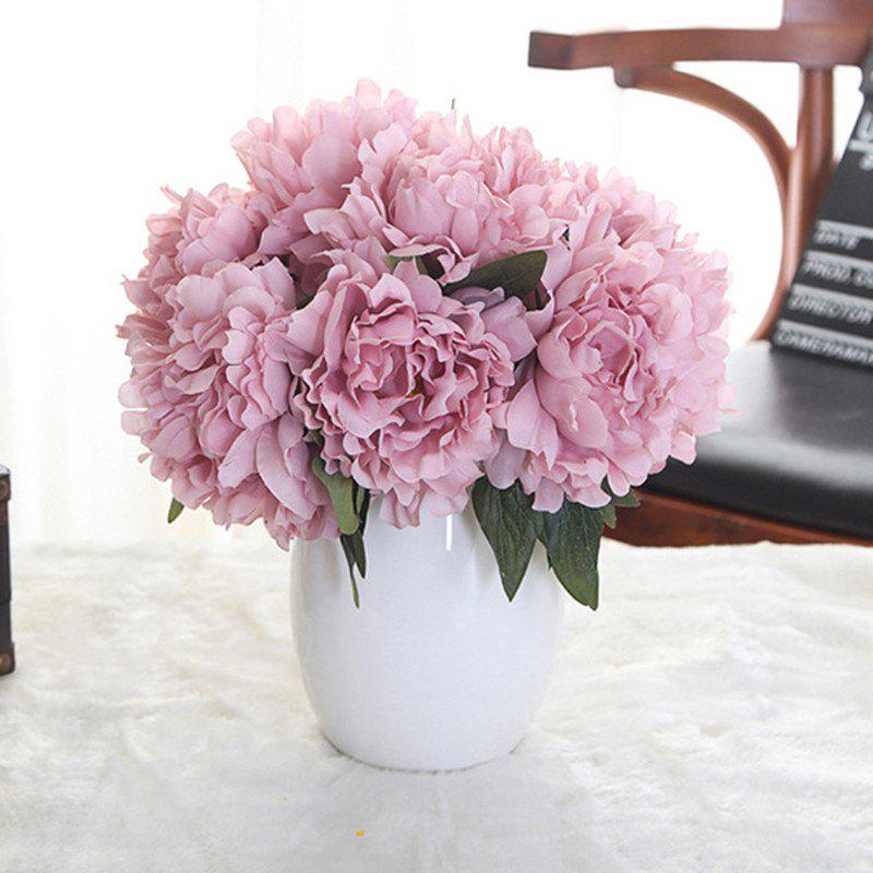Affordable XM1 5 Heads Peony Lilac Wedding Flowers Home Decoration Artificial Flower