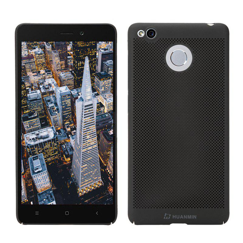 Fashion Ultra-Thin Breathable Cooling Mesh Hard Phone Cover for RedMi 3SHOME<br><br>Color: BLACK;