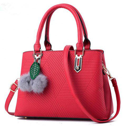 Outfits Diagonal Hollow Lady Single Shoulder Bag with a Pendant