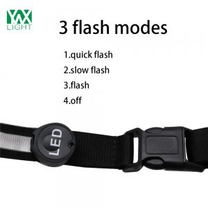 YWXLight Safety Reflective Luminous Waistband LED Bike Jogger Runway Flashing Belt -