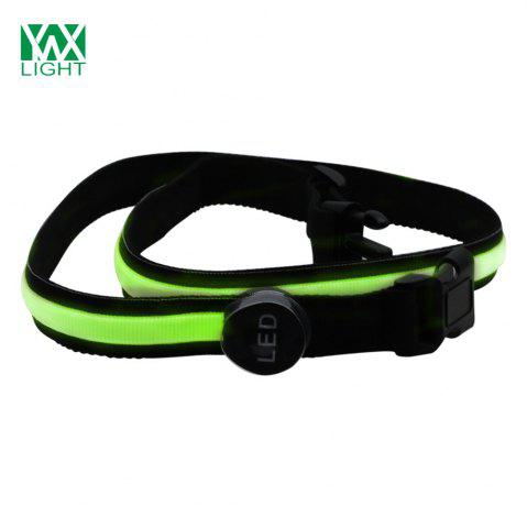 YWXLight Safety Reflective Luminous Waistband LED Bike Jogger Courroie de piste Vert