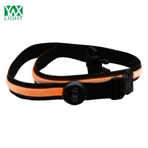Outfits YWXLight Safety Reflective Luminous Waistband LED Bike Jogger Runway Flashing Belt ORANGE