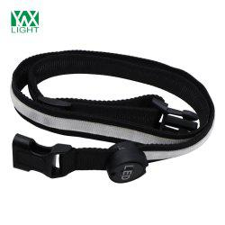 YWXLight Safety Reflective Luminous Waistband LED Bike Jogger Courroie de piste -