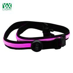 YWXLight Safety Reflective Luminous Waistband LED Bike Jogger Runway Flashing Belt - PINK