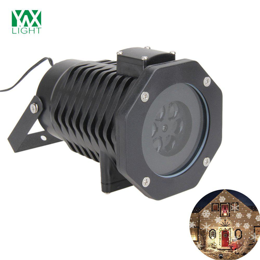 YWXLight LED Projection Lights Snowflake Christmas Light Outdoor Lighting AC 100 - 240VHOME<br><br>Size: US PLUG; Color: BLACK; Holder: Wired; Output Power: 6W; Voltage (V): AC 100-240V; Luminous Flux: 500 - 600 LM; Lifespan: ?30000 Hours; Features: Easy to use,Energy Saving; Function: Commercial Lighting,Home Lighting,Outdoor Lighting,Studio and Exhibition Lighting; Available Light Color: RGB; Sheathing Material: PC;