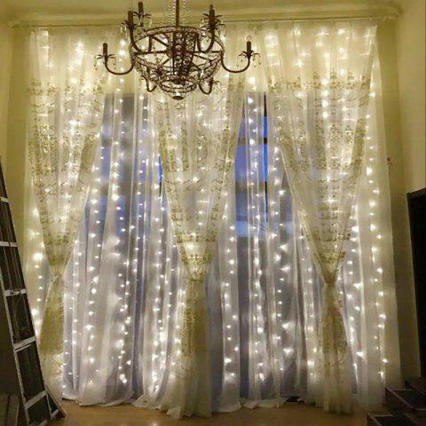 Online KWB LED Window Curtain Icicle Lights 300 LED String Fairy Lights 118.11 x 118.11 Inch 8 Modes White Christmas / Thanksgiving / Wedding / Party Backdrops