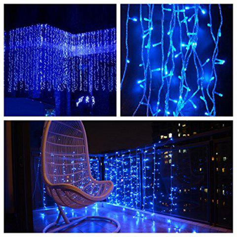 Store KWB LED Window Curtain Icicle Lights 300 LED String Fairy Lights 118.11 x 118.11 Inch 8 Modes White Christmas / Thanksgiving / Wedding / Party Backdrops - BLUE 220V EU PLUG Mobile