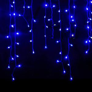 KWB LED Christmas Lights Outdoor Decoration Lights 3.5m Droop  Led Curtain Icicle String Lights White / Warm White / RGB / Blue New Year Wedding Party lights - BLUE 110V US PLUG