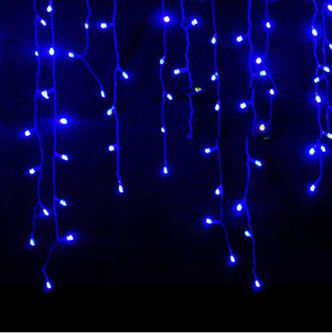 Affordable KWB LED Christmas Lights Outdoor Decoration Lights 3.5m Droop  Led Curtain Icicle String Lights White / Warm White / RGB / Blue New Year Wedding Party lights BLUE 110V US PLUG