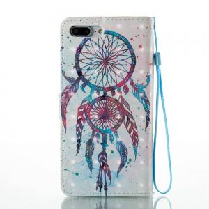 Color Drops of Wind Chimes 3D Painted PU Phone Case for iPhone 7 Plus -