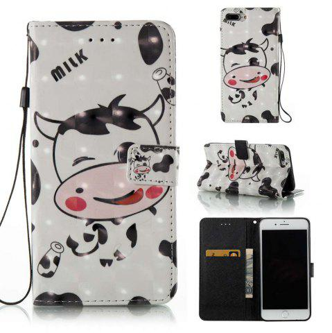 Cheap Cows 3D Painted PU Phone Case for iPhone 7 Plus