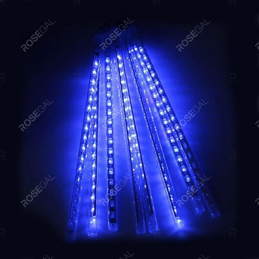 KWB LED Meteor Shower Rain Waterproof Led Tubes String Lights 30CM  8 Tubes White / Blue / RGB Color Snow Fall String Cascading Lights for Party HolidayHOME<br><br>Size: EU PLUG; Color: BLUE; Model: KWB-086; Holder: Other; Output Power: 7W; Voltage (V): AC110-220; Luminous Flux: 7 - 8lumen; Lifespan: 30000; Features: Energy Saving,Long Life Expectancy; Function: Commercial Lighting,Outdoor Lighting; Available Light Color: Blue,RGB,White; Body Color: Transparent; Sheathing Material: Plastic;