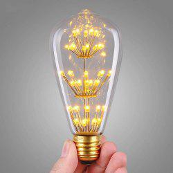 SUPli 1Pack Vintage Edison Bulbs 220V - 240V 3W Light Bulb Yellow Warm -