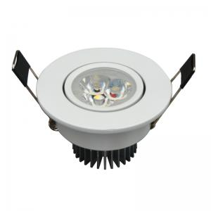 Jiawen 6pcs / Lot 3W LED Downlight Warm White and Cool White Recessed LED Spot Light AC 85 - 265V -