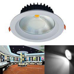 JIAWEN 20W Dimmable Blanc chaud / Cool White COB LED Downlight AC 85 - 265V - Blanc Froid