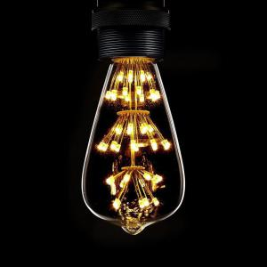 SUPli 1Pack Vintage Edison Bulbs AC 220V - 240V 3W Bright Starry Style Squirrel Cage Light Bulb for Home Lamp Lighting Fixtures Decorative Antique Filament Nostalgic Glass E27 Medium Base Warm Yellow -