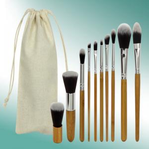TODO 10pc Bamboo Pro Makeup Brush Set with Storage Pouch -