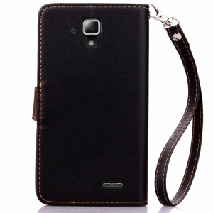 Love Leaf Card Lanyard Pu Leather for Lenovo A536 -