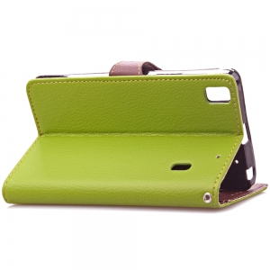 Love Leaf Card Lanyard Pu Leather for Lenovo K3 NOTE -