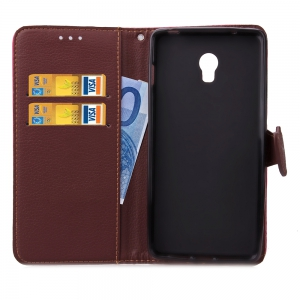 Love Leaf Card Lanyard Pu Leather for Lenovo P1 -