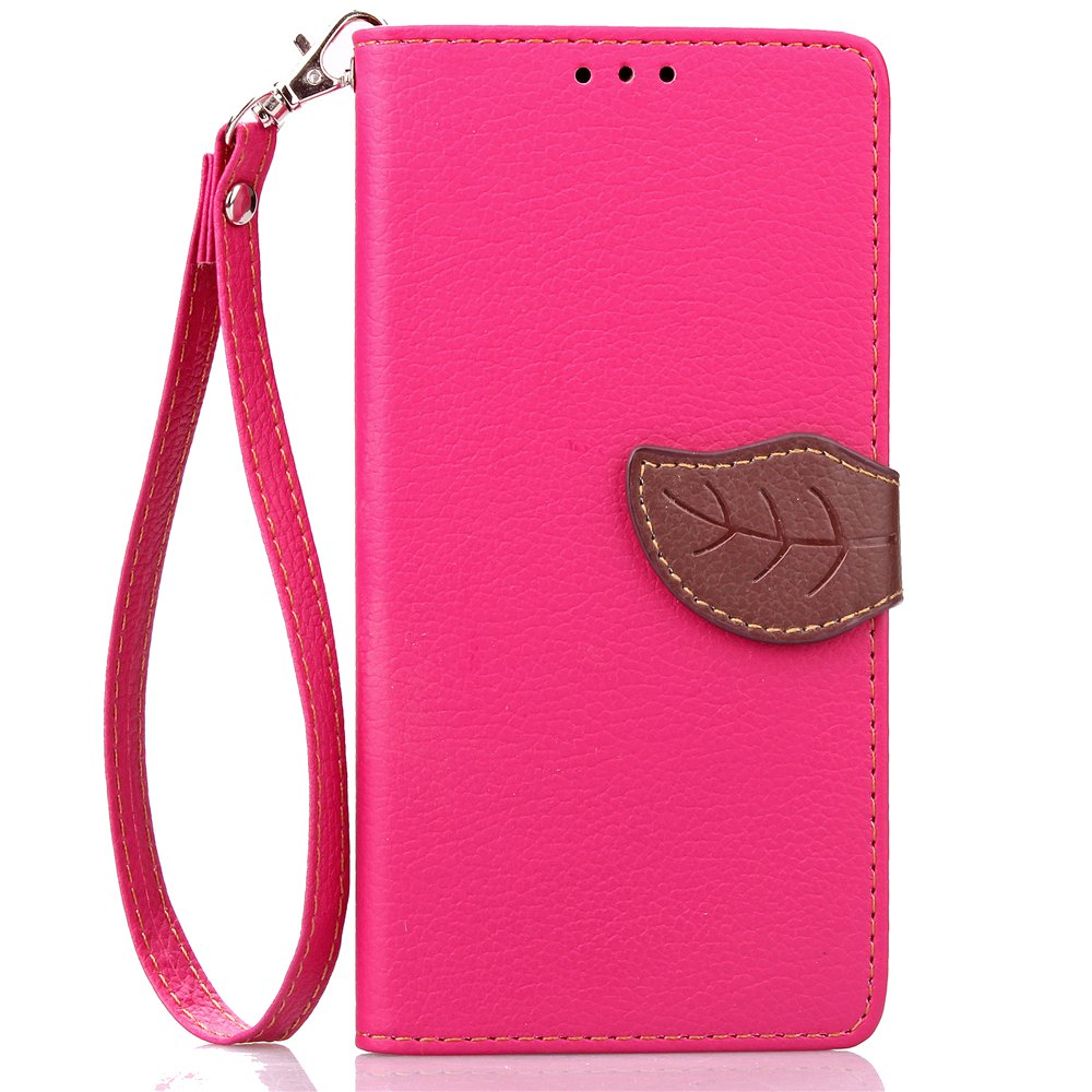 Cheap Love Leaf Card Lanyard Pu Leather for Lenovo P1
