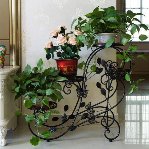 Outfits Three Layers Decorative Metal Garden Flower Pots Display Stand Iron Flower Rack