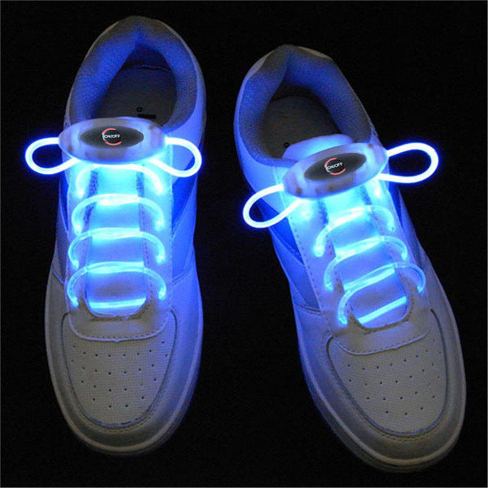 YWXLight Up LED Shoelaces Fashion Flash Disco Party Glowing Neon ShoelaceHOME<br><br>Color: BLUE; Holder: Wired; Output Power: 2W; Voltage (V): 5V; Luminous Flux: 100 - 200 LM; Features: Easy to use,Energy Saving; Function: Commercial Lighting,Home Lighting,Studio and Exhibition Lighting; Available Light Color: Blue,Green,Orange,Pink,Red,RGB,White,Yellow; Body Color: Transparent; Sheathing Material: Silicone;