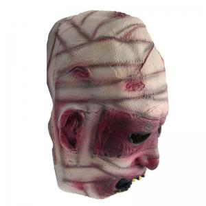 Yeduo Latex Rubber Grimace Monster Mummy Mask for Adults Halloween Party Supplies - MULTICOLOR