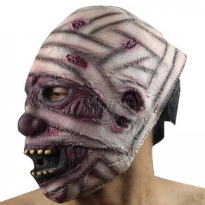 Yeduo Latex Rubber Grimace Monster Mummy Mask for Adults Halloween Party Supplies -