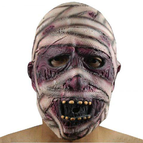 Fashion Yeduo Latex Rubber Grimace Monster Mummy Mask for Adults Halloween Party Supplies MULTICOLOR
