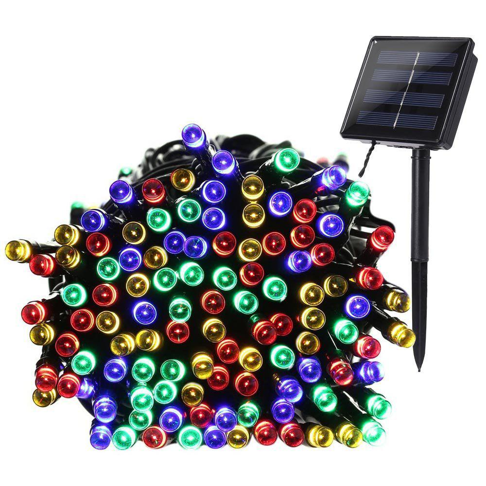 KWB LED Solar String Lights 12M 100balls Christmas New Year Lamps White / Warm White / Blue / Red /  RGBHOME<br><br>Color: RGB;