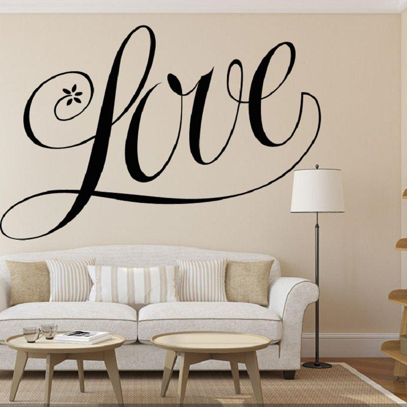Love Shape Vinyl Carving Wall Decal Sticker for Home DecorationHOME<br><br>Color: BLACK;