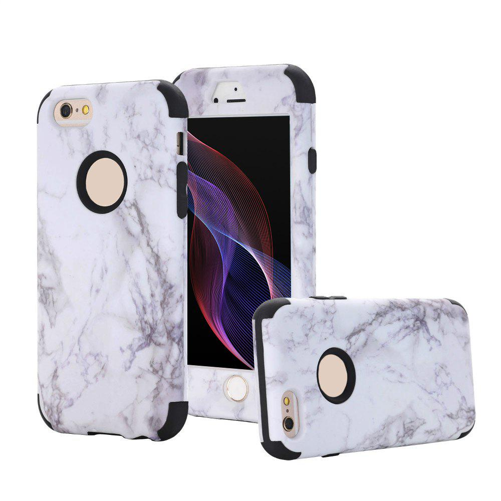 Affordable Marble Design Hard Impact Dual Layer Shockproof Bumper Case for iPhone 6 Plus / 6S Plus