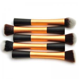Ensemble de tâches multijoueurs TOTO 5PCS Pro Duo-Fiber Face Makeup Brush - Or