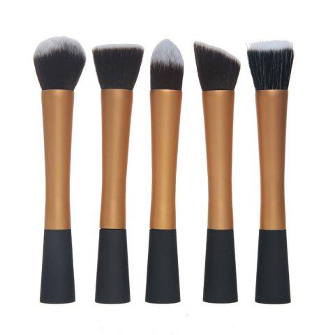 Ensemble de tâches multijoueurs TOTO 5PCS Pro Duo-Fiber Face Makeup Brush Or