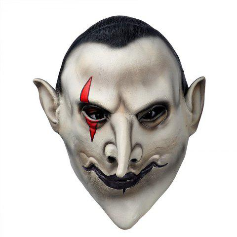 Outfits Yeduohorror Devils Latex Scary Mask Earl of Hell Face Vampire Bloodsucker Halloween Masquerade Mascara Terror Cosplay Party Props