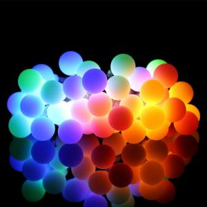 Kwb Led Christmas String Light 2M 20 Balls Warm White / Rgb Outdoor with Battery Box - RGB COLOR
