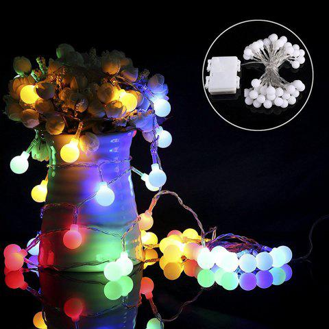 Best Kwb Led Christmas String Light 2M 20 Balls Warm White / Rgb Outdoor with Battery Box RGB COLOR