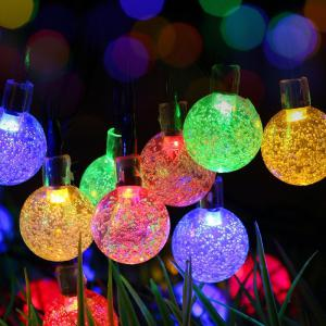 KWB LED Solar String Lights 7M 50 boules LED Crystal Ball imperméable à l'eau -