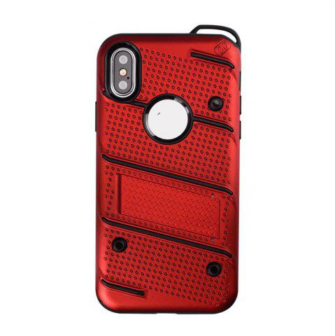 Hot Wkae Weaving Pattern PU Leather Case Cover Kickstand for iPhone X