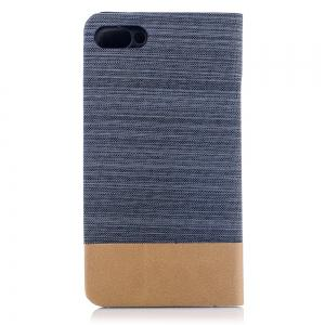 Simple Style Canvas Design Flip PU Leather Case for ASUS Zenfone 4 Max 5.5 inch (ZC554KL) -