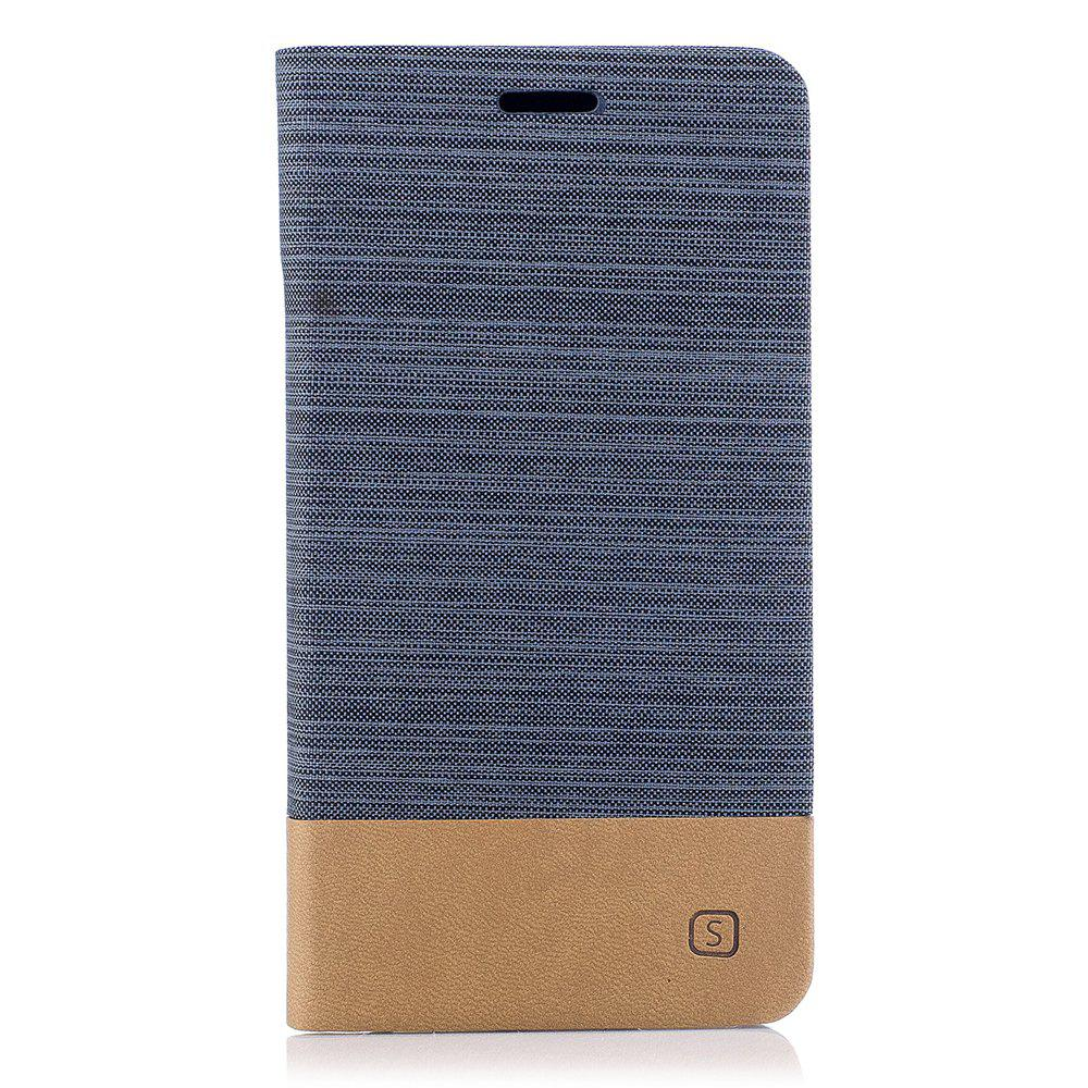 Chic Simple Style Canvas Design Flip PU Leather Case for ASUS Zenfone 4 Max 5.5 inch (ZC554KL)