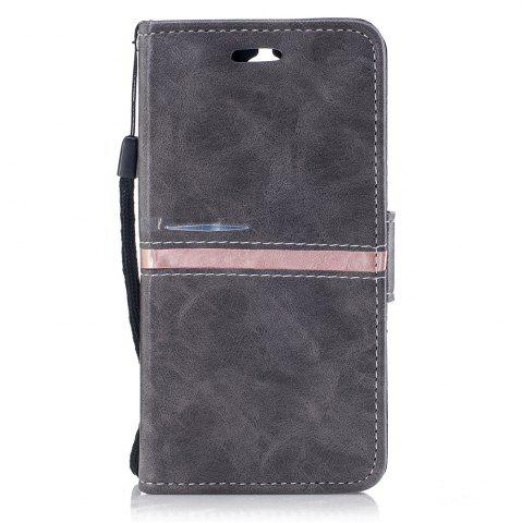 Online Elegant Style Back Magnetic Buckle Flip PU Leather Wallet Case for Huawei Y5 2017